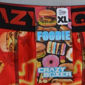 CRAZY BOXER Foodie Cheese Burgers Boxer Briefs NWT